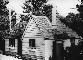 The toll cottage after it was damaged by a lorry in 1967