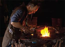 blacksmith's demonstration
