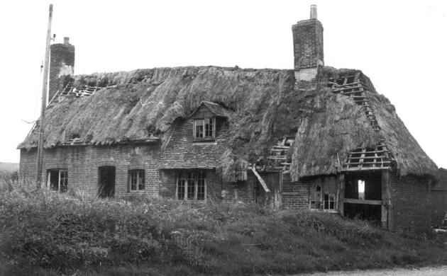 Hall house prior to dismantling in 1971