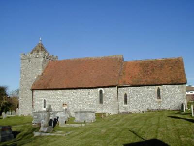 The medieval church of St Helen's, Hangleton