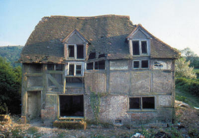 Poplar Cottage viewed from the north before dismantling