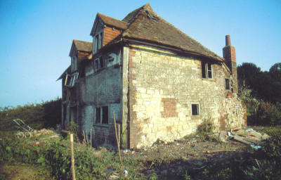 Poplar Cottage from the north west before dismantling.