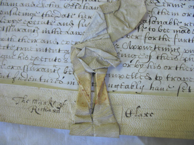 Richard Clare's 'mark' from the indenture of 1639.