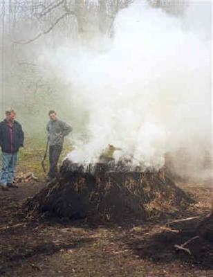 Houtskool branden ingang (alleen op speciale gebeurtenissen)