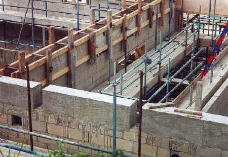 gridshell_cast concrete pads close up