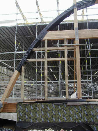 gridshell end frame construction