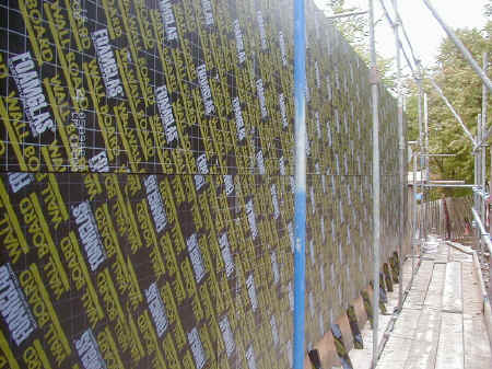 Foamglas insulation applied