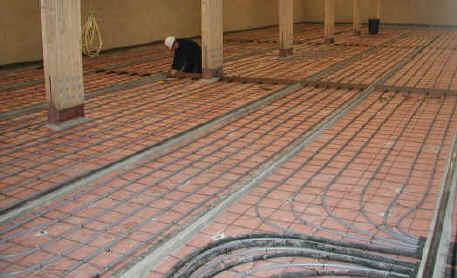 gridshell underfloor heating