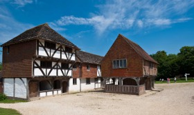 Market Square at the Weald & Downland Open Air Museum