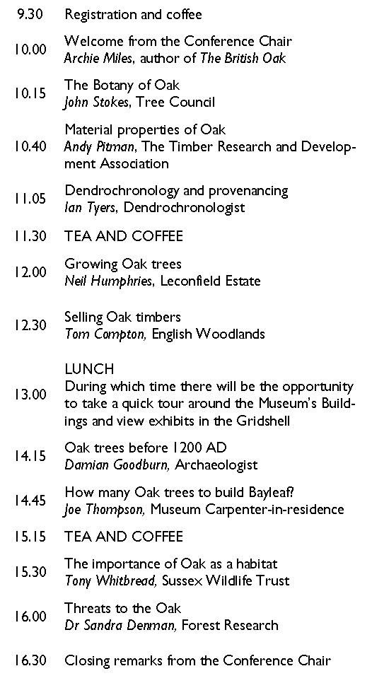 Oak conference 2015 programme white unbold