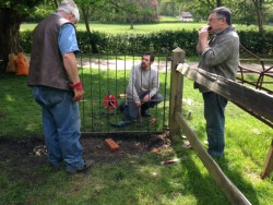 Blacksmiths fixing a gate at the Weald & Downland Museum