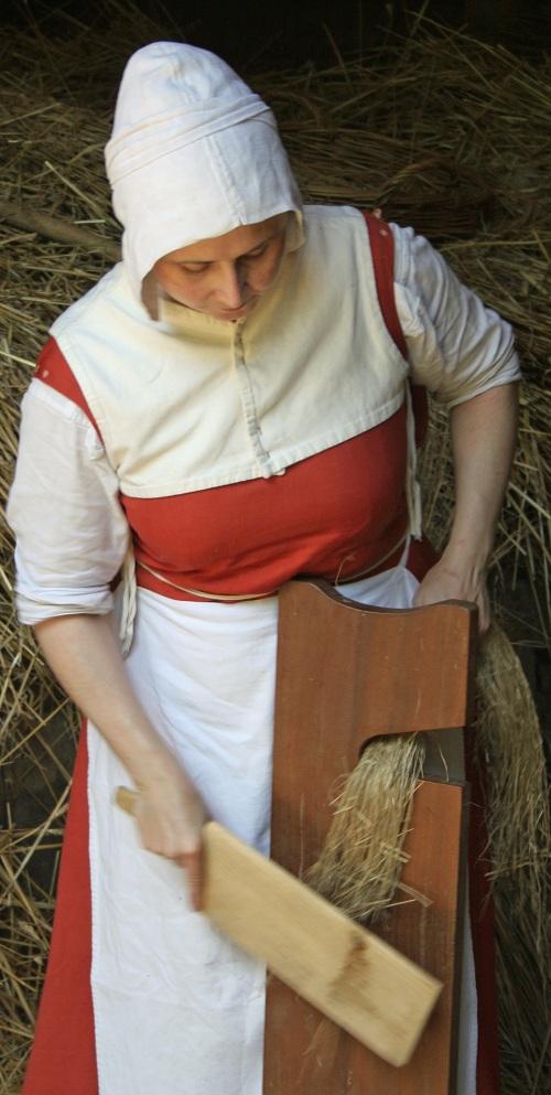 Flax scutching - Weald & Downland Museum