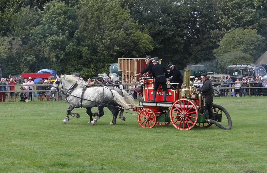 Horse drawn fire engine at the Weald & Downland Museum