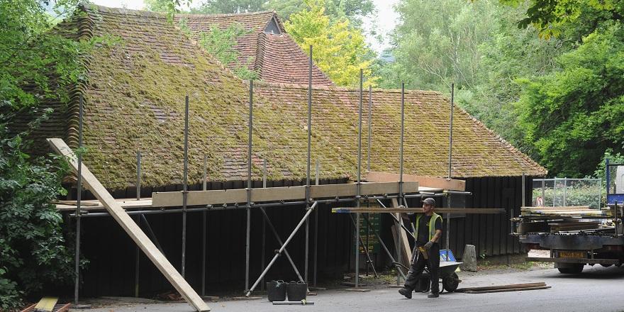 Pallingham Quay Wagon shed dismantling July 2015