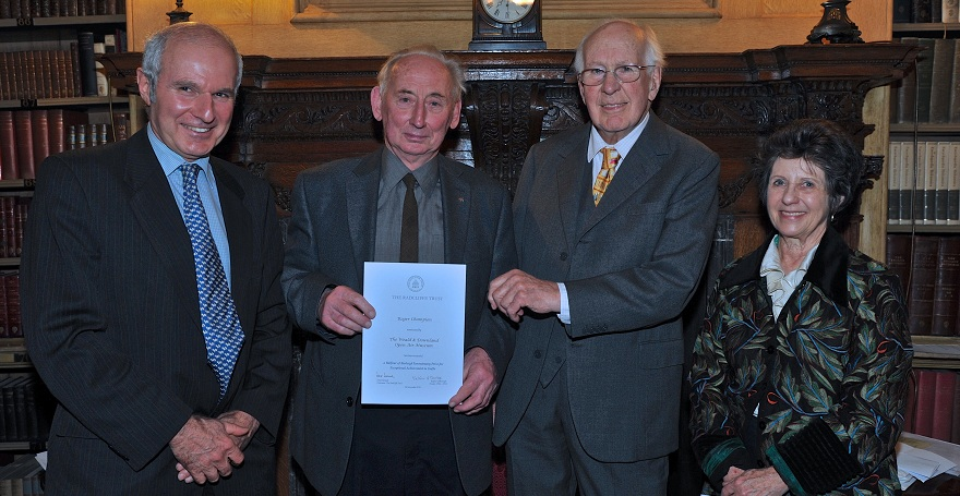 Roger Champion and Richard Pailthorpe - Balfour of Burleigh tercentenary prize 2015