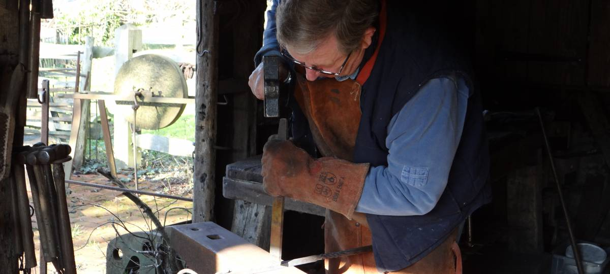 A day in the life of a volunteer: Blacksmith | Weald and
