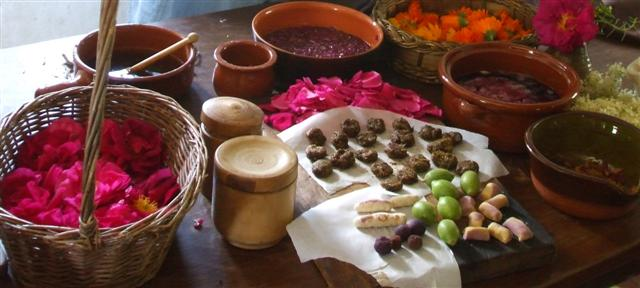 Ingredients from tudor stillroom courses