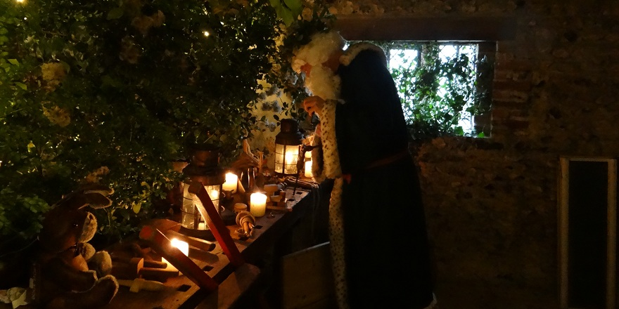 Green Father Christmas at the Weald & Downland Living Museum