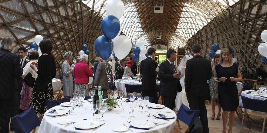Wedding Gridshell building Weald & Downland