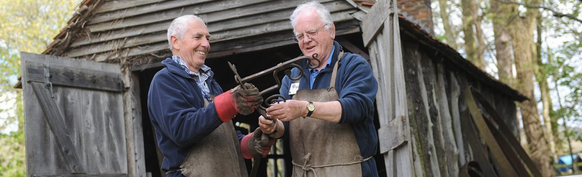 volunteer blacksmith Weald & Downland Museum