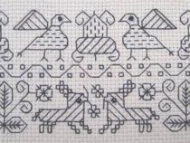 An example of Blackwork embroidery