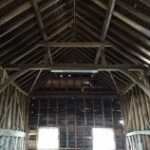 May Day Farm - barn interior prior to dismantling