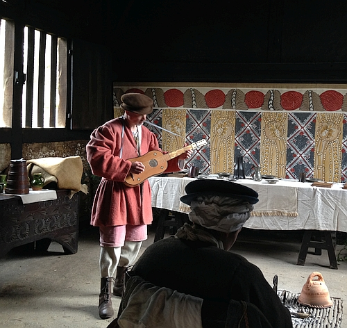 Music being played in a historic house