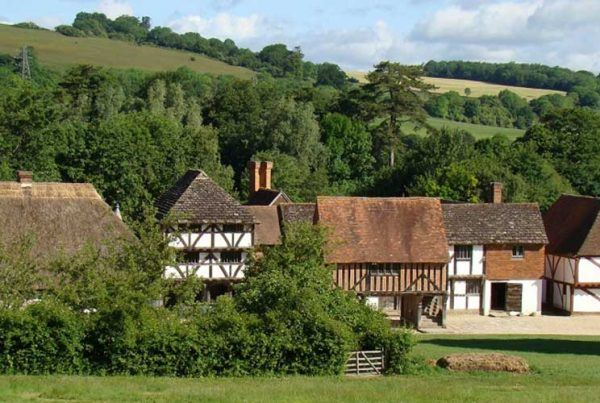 The market square at the Weald & Downland Living Museum