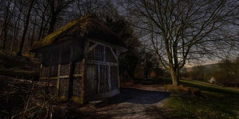 Catherington wheel at night (photo credit: Anna Walls Photography)