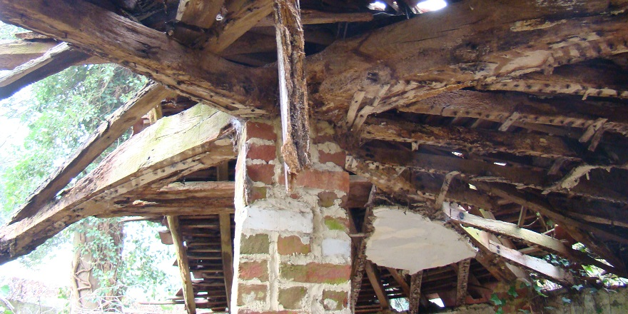 Eastwick Park dairy interior roof in its original location