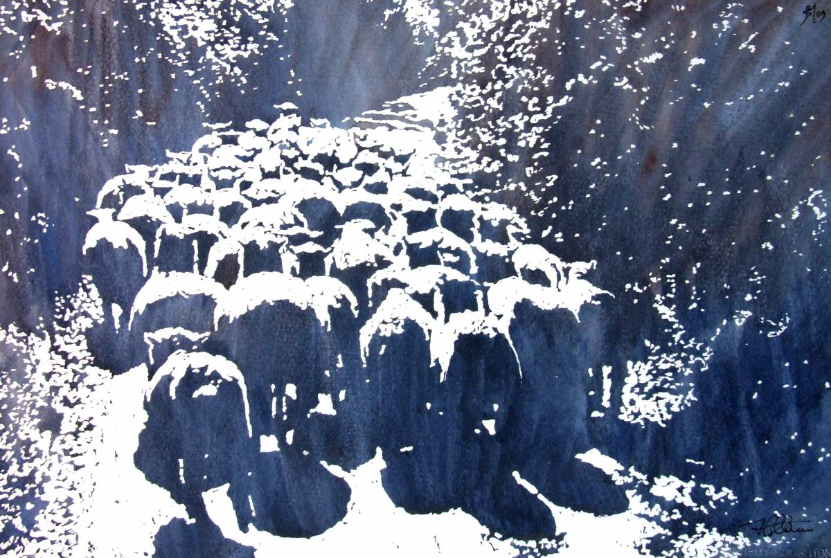 Jeremy Houghton sheep print