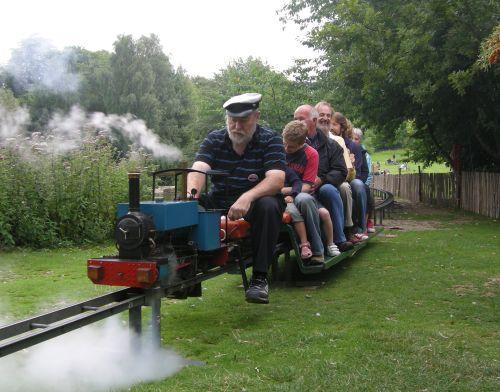 Miniature steam train rides