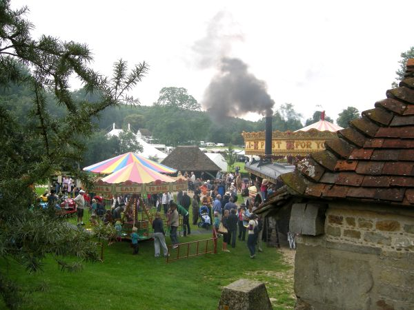 Steam view of gallopers