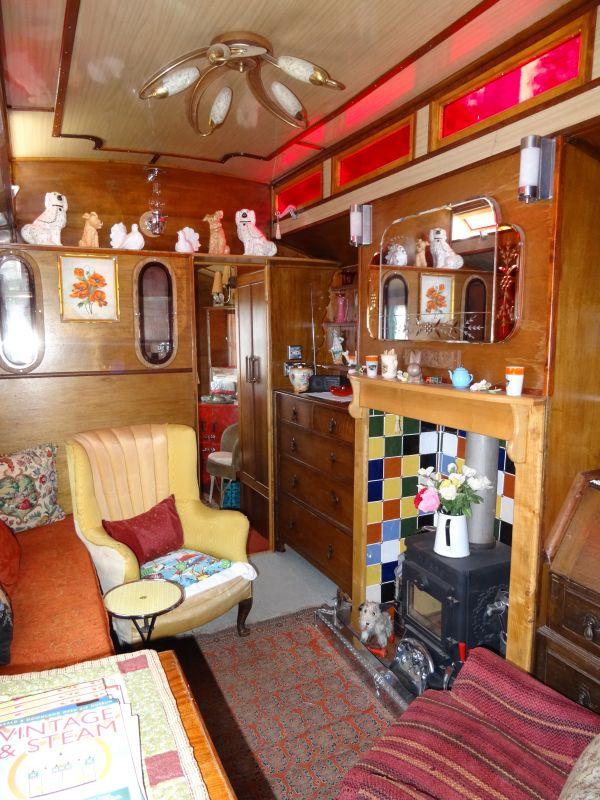 Inside a living wagon