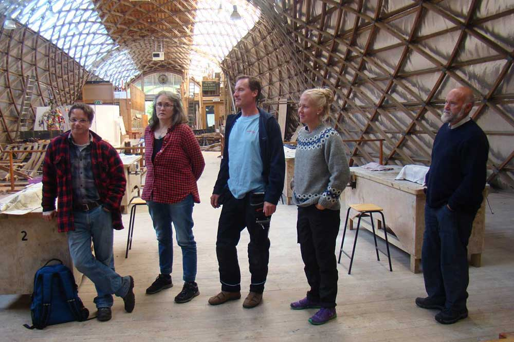 Colleagues from Sweden's open air museums at the Weald & Downland