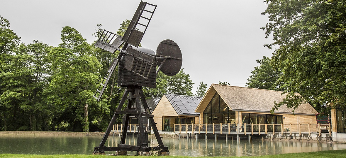 Weald & Downland Museum visitor centre featuring wind pump
