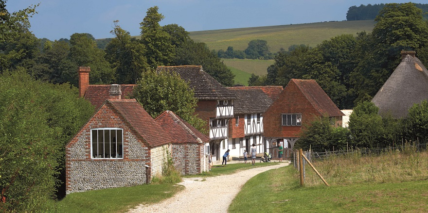 Weald & Downland Living Museum site view spring