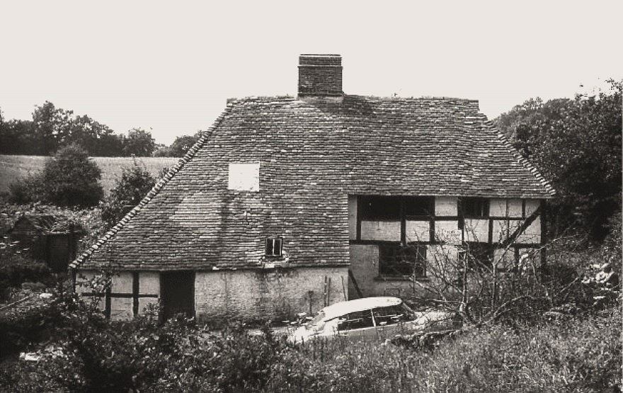 Pendean Farmhouse prior to dismantling