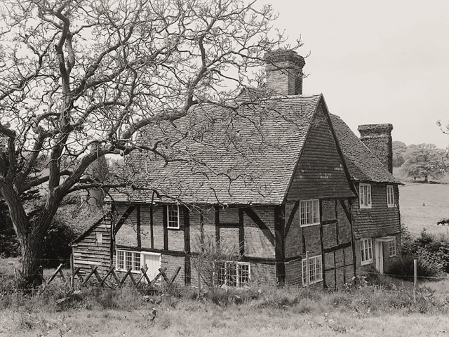 Winkhurst Tudor Farm prior to dismantling