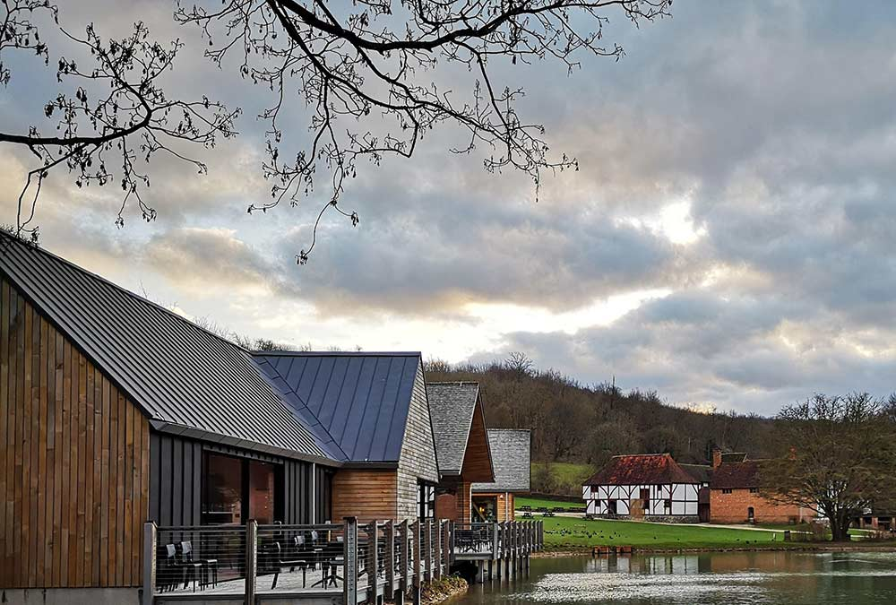Weald & Downland Living Museum café, Gateway Project and millpond