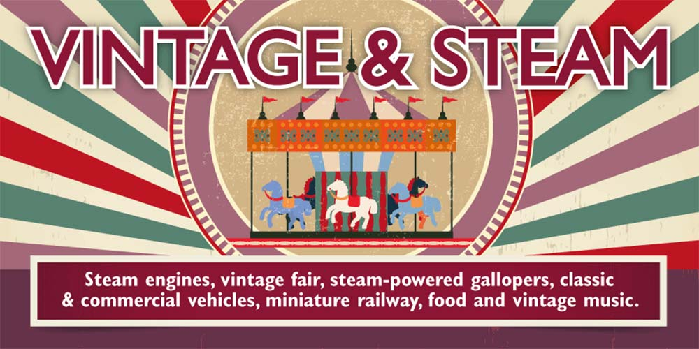 Vintage & Steam event at the Weald & Downland Living Museum, West Sussex