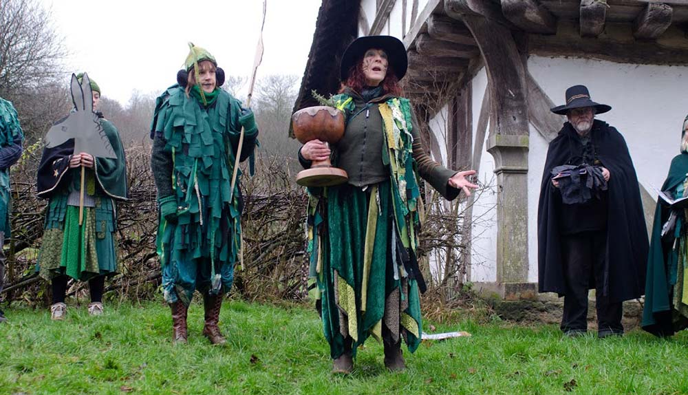 Traditional January wassailling at the Wwald & Downland Living Museum