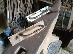 metal latches made in forge for dairy