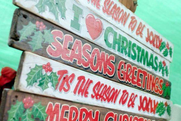 Christmas Market decoration boards