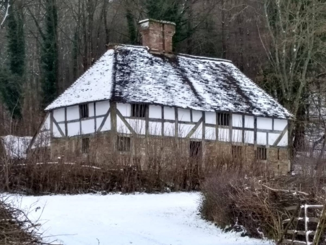 Pendean Farmhouse in winter