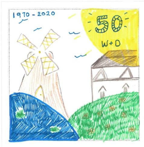Overall winning design by Megan, aged 5