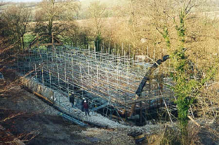 Gridshell scaffolding forest