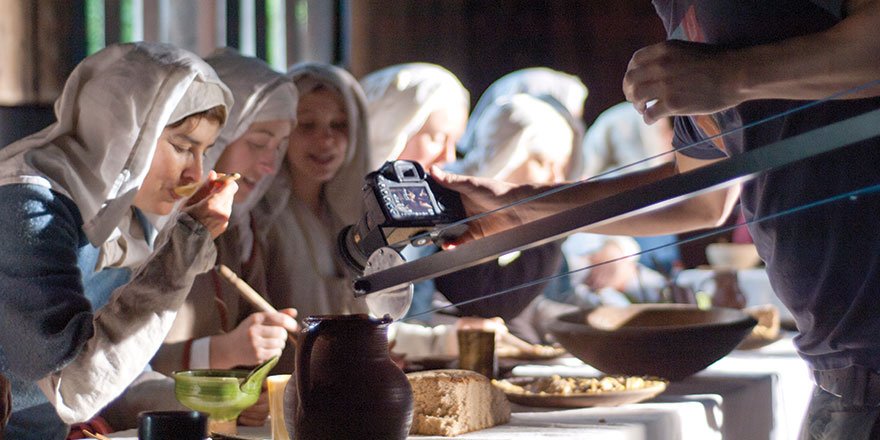 Filming at the Museum