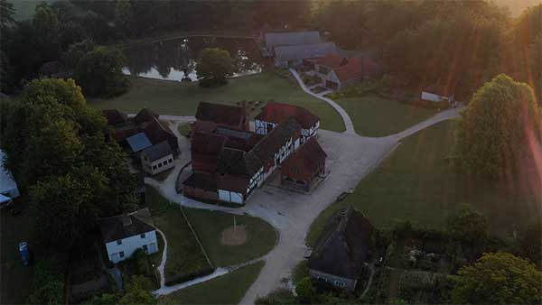 Drone footage of the Museum