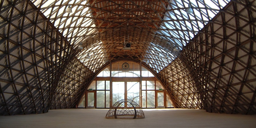 Jerwood Gridshell space not dressed